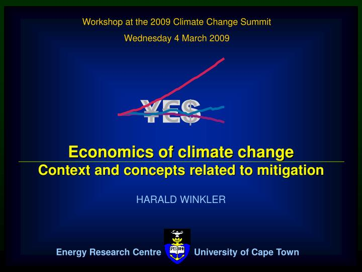 Workshop at the 2009 Climate Change Summit