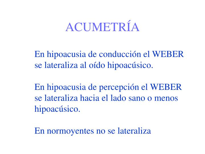 ACUMETRÍA