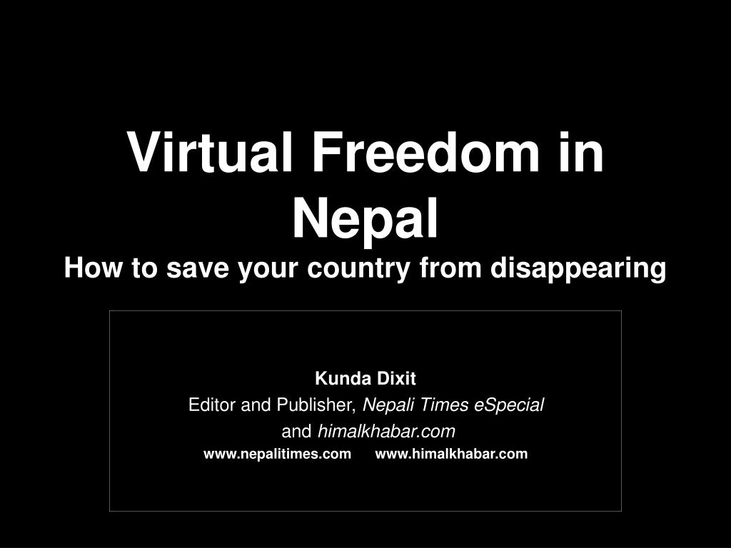 Virtual Freedom in Nepal