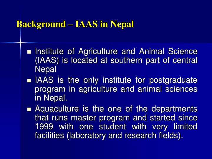 Background iaas in nepal