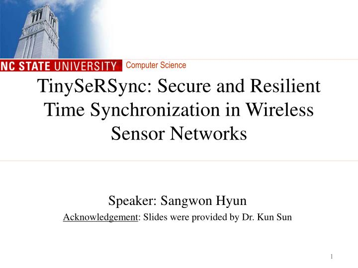 tinysersync secure and resilient time synchronization in wireless sensor networks n.
