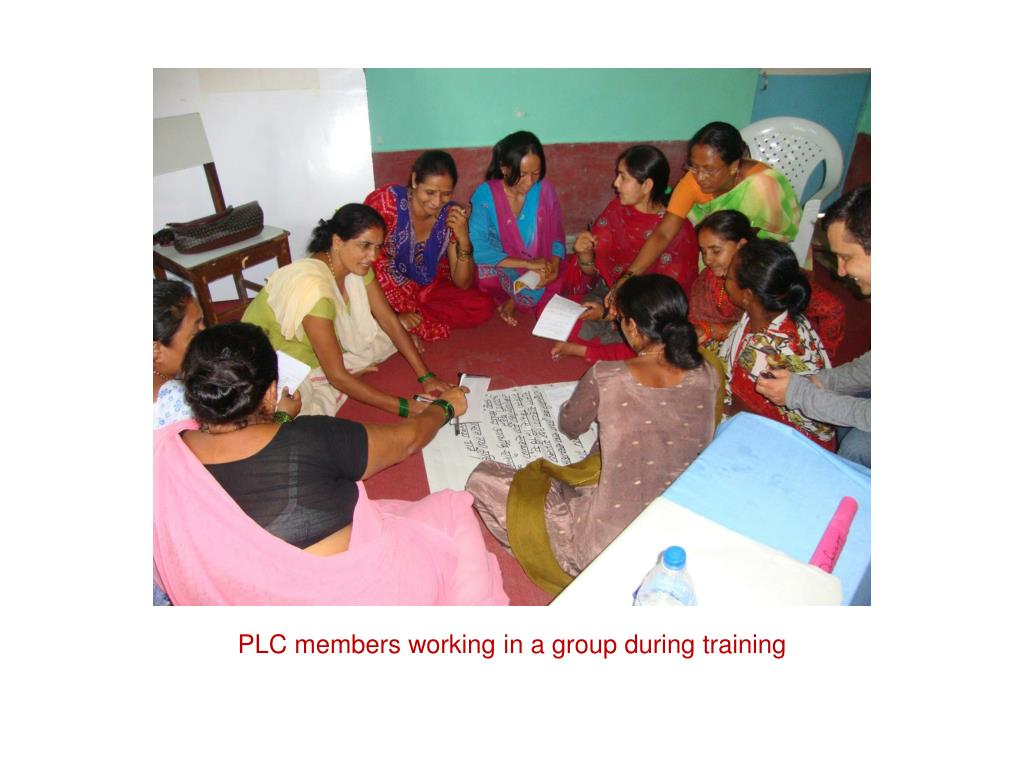 PLC members working in a group during training