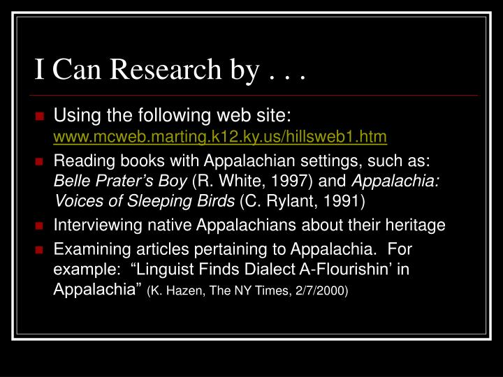 I Can Research by . . .