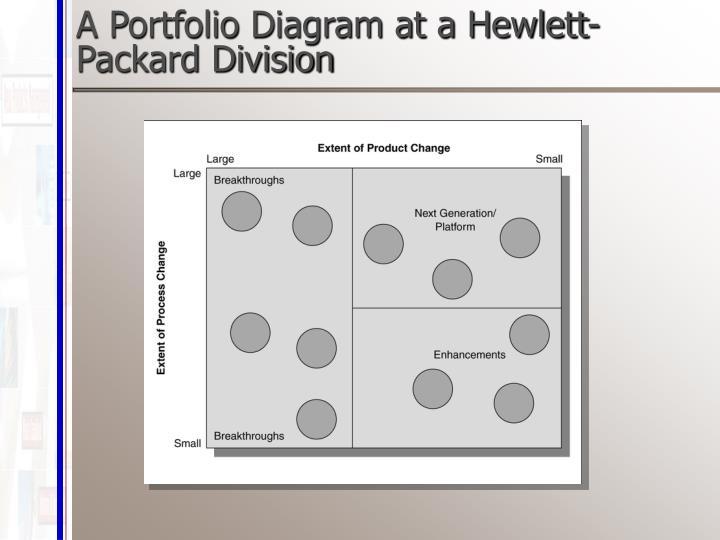 A Portfolio Diagram at a Hewlett-Packard Division