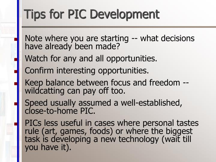 Tips for PIC Development