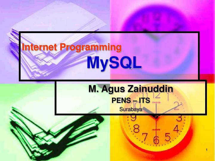 internet programming mysql n.