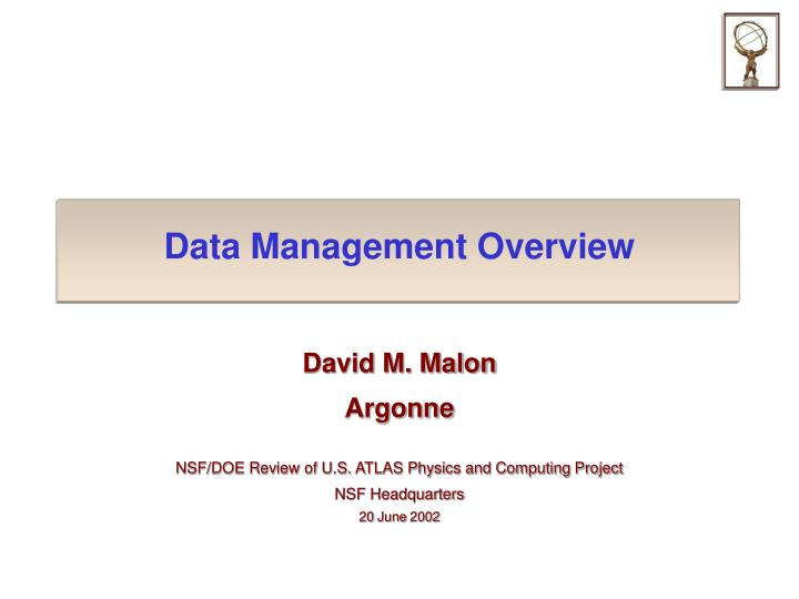 data management overview n.