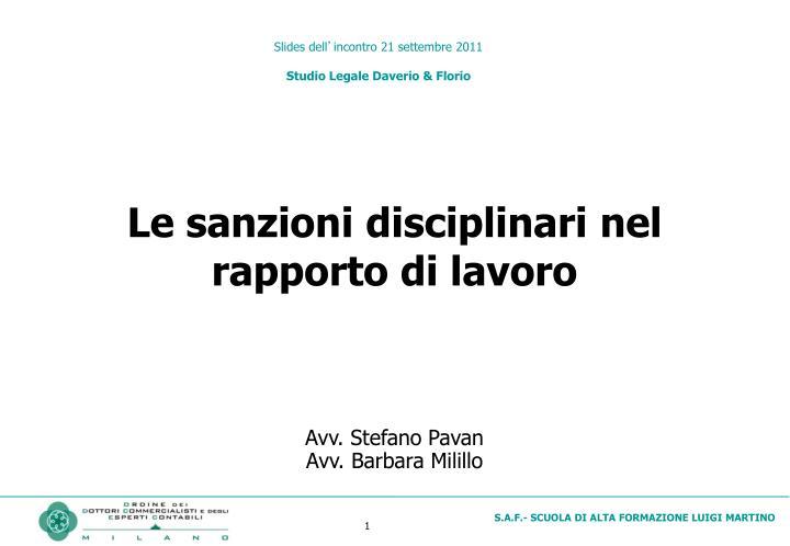 slides dell incontro 21 settembre 2011 studio legale daverio florio n.