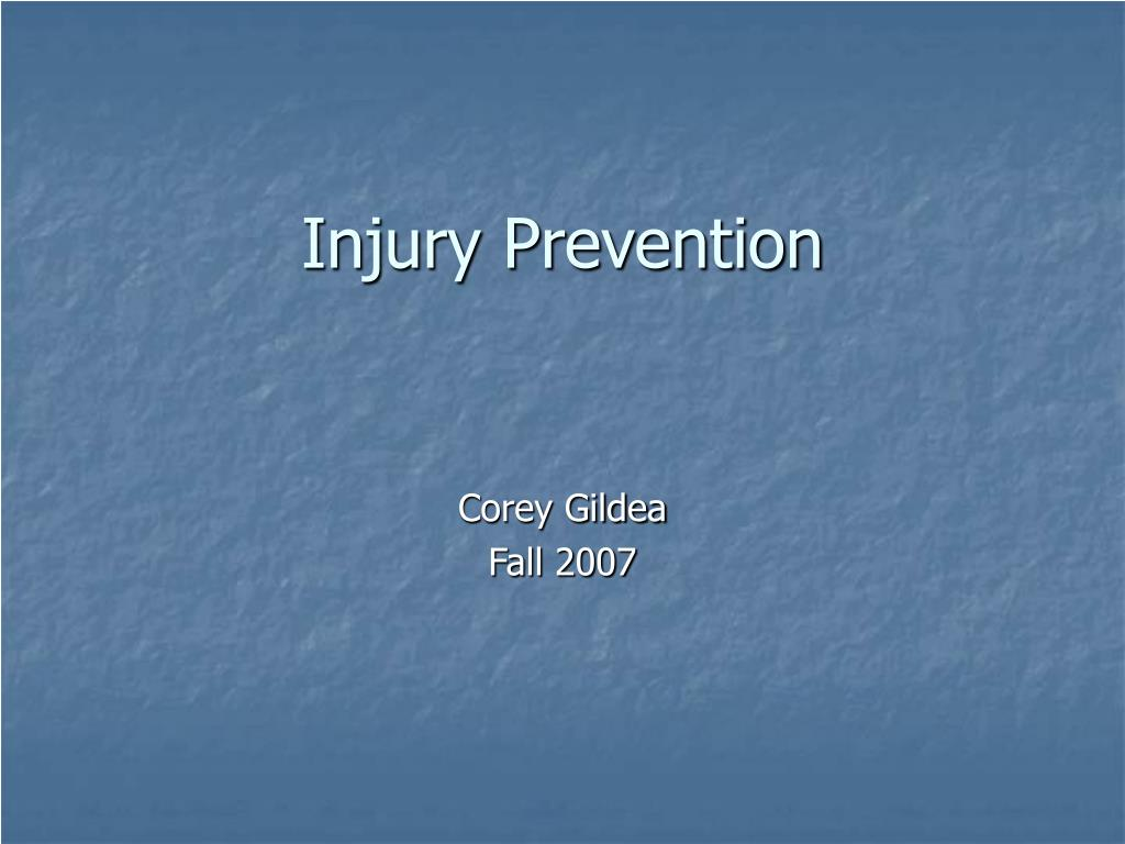 injury prevention l.