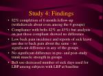 study 4 findings