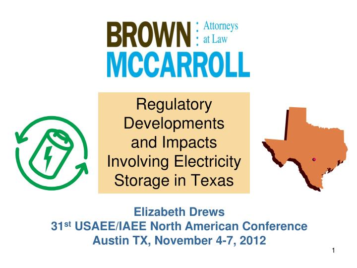 regulatory developments and impacts involving electricity storage in texas n.
