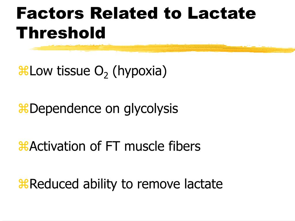 Factors Related to Lactate Threshold