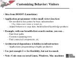 customizing behavior visitors