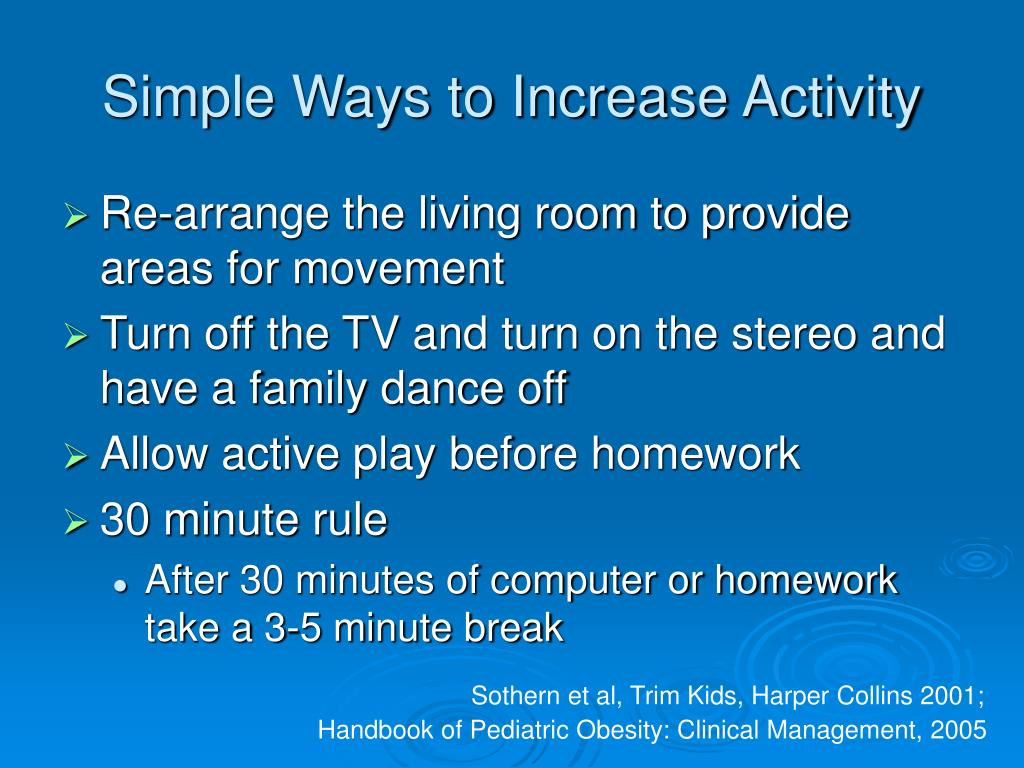 Simple Ways to Increase Activity
