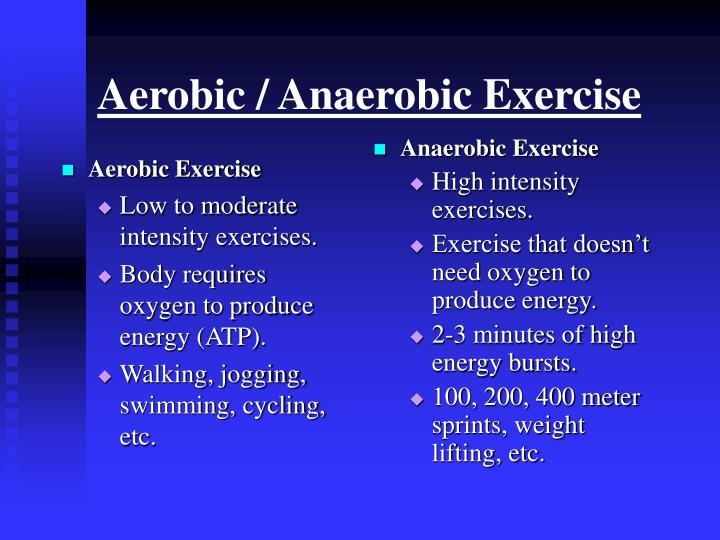 Aerobic anaerobic exercise