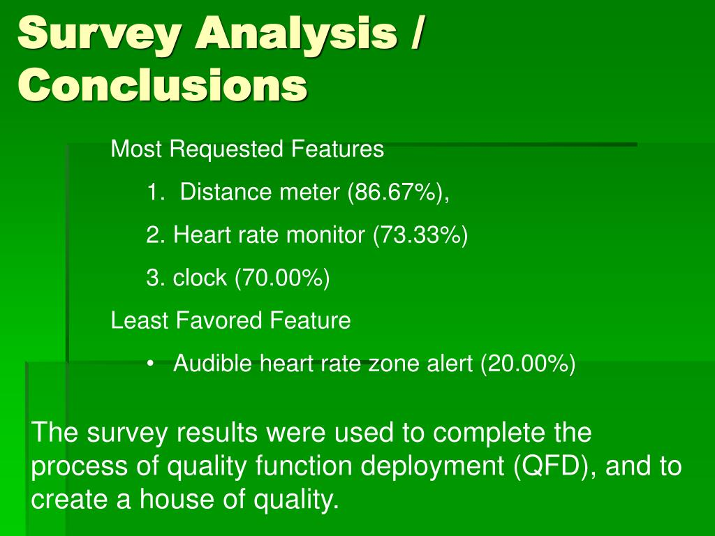 Survey Analysis / Conclusions