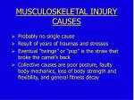 causes of musculoskeletal injury causes