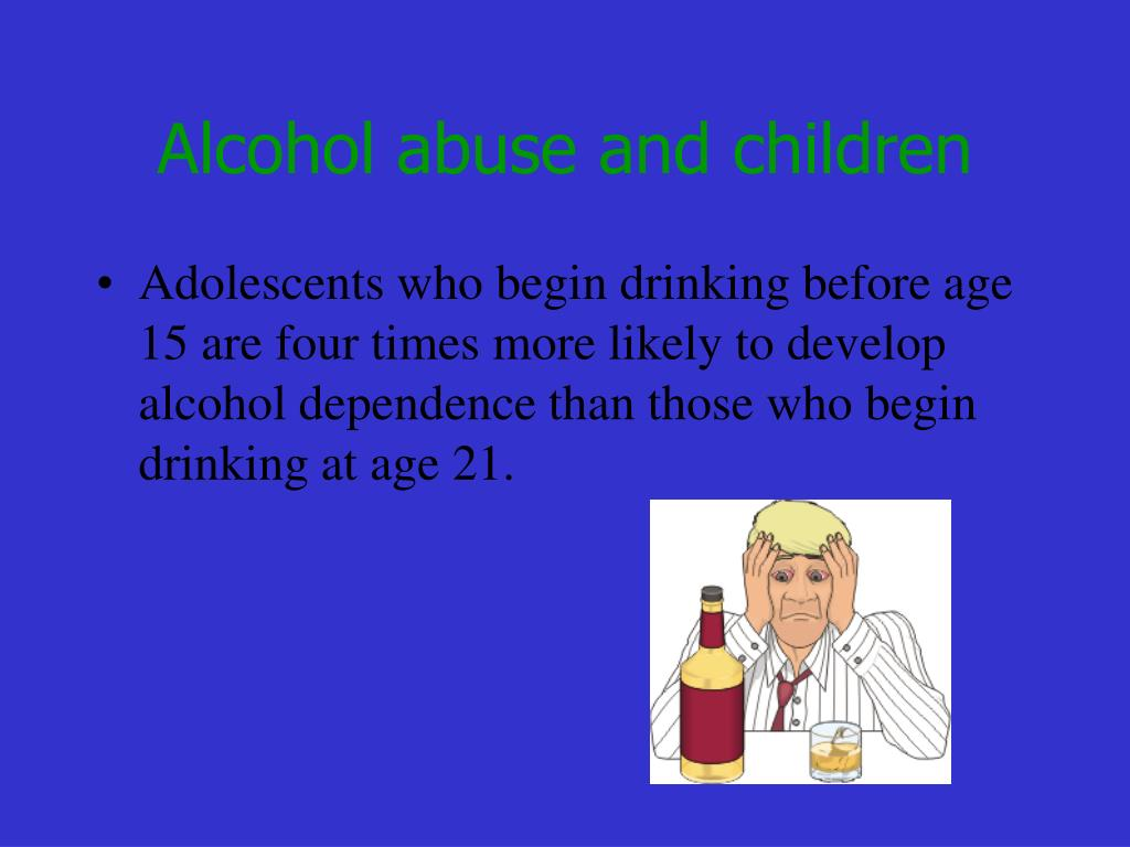 Alcohol abuse and children