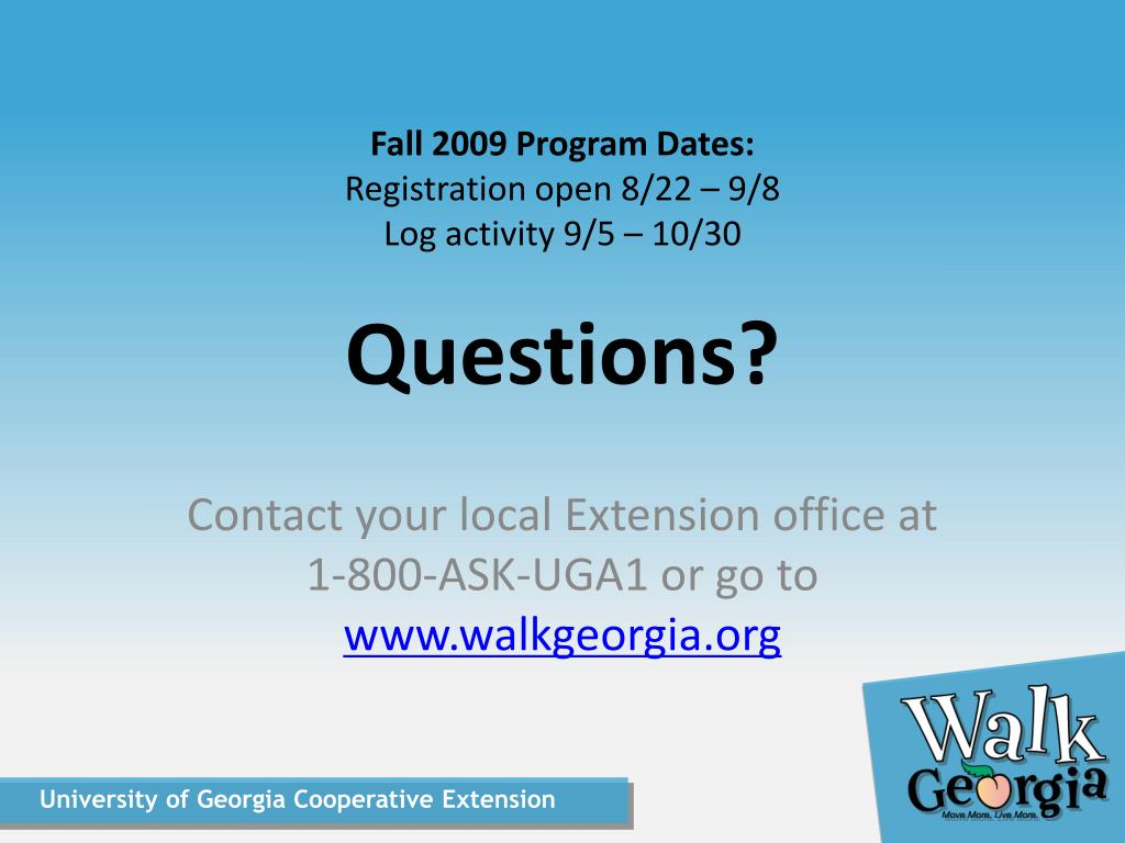 Fall 2009 Program Dates: