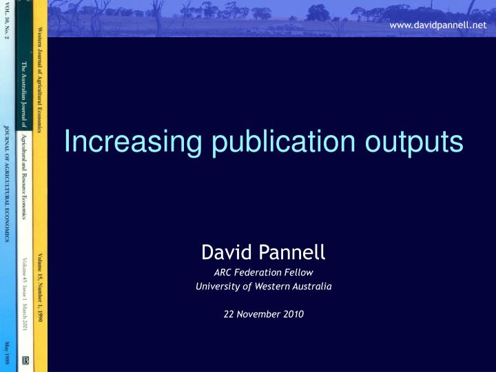 increasing publication outputs n.