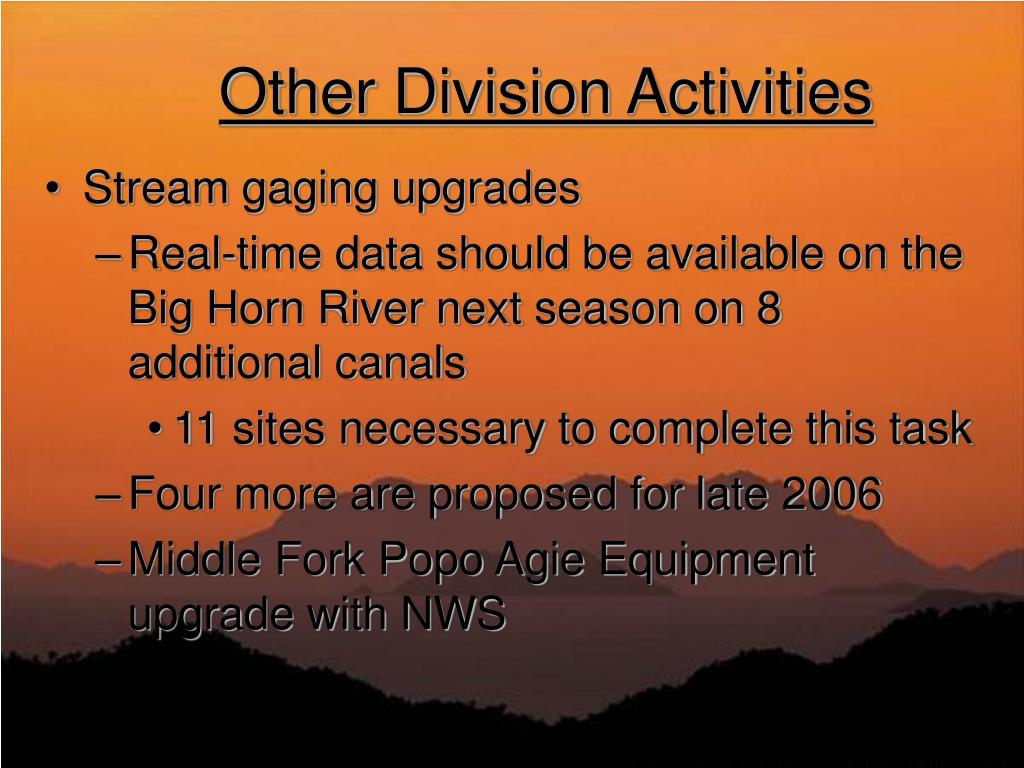 Other Division Activities