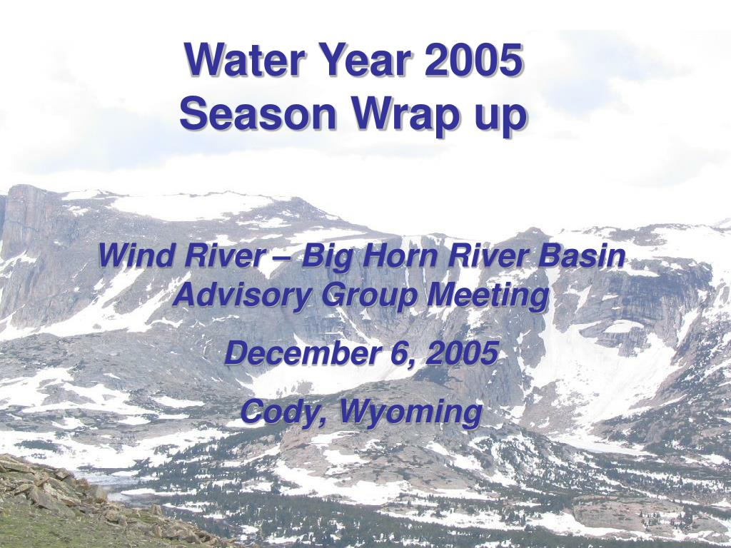 Water Year 2005