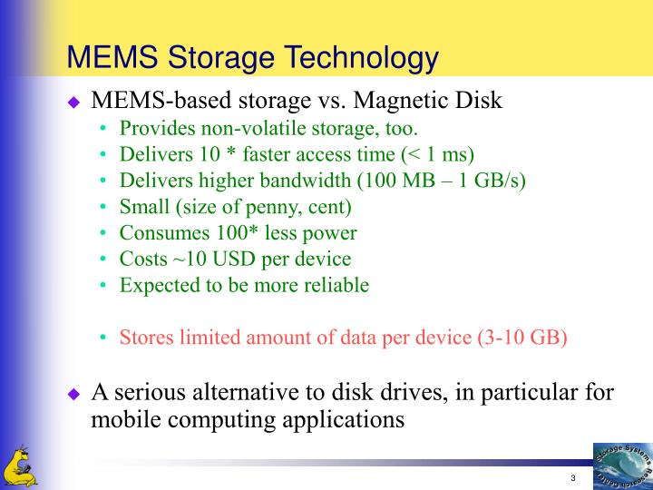 Mems storage technology1