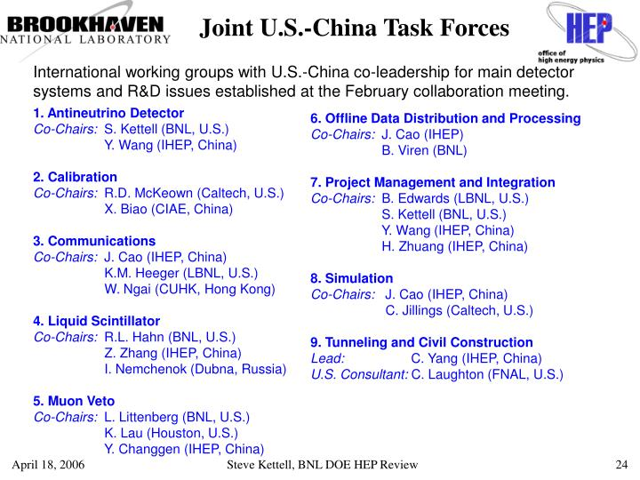 Joint U.S.-China Task Forces
