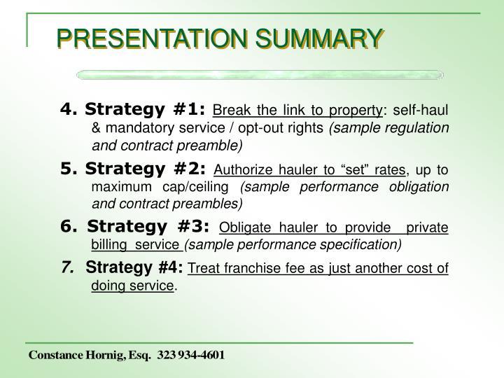 Presentation summary3