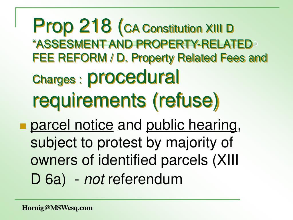 Prop 218 (