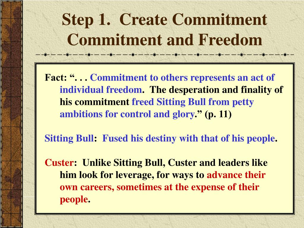 Step 1.  Create Commitment