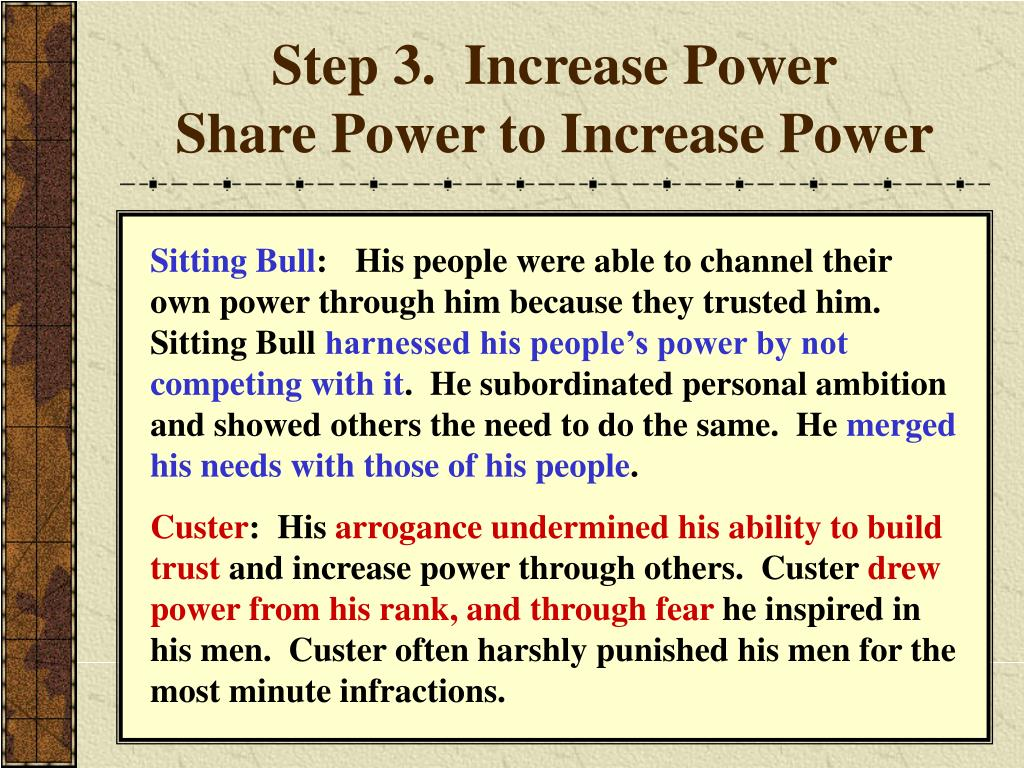 Step 3.  Increase Power