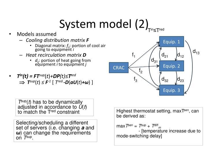 System model (2)