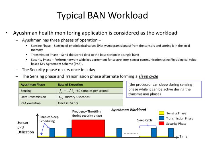 Typical BAN Workload