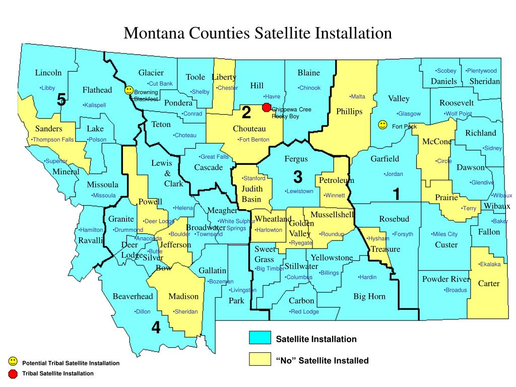 Montana Counties Satellite Installation