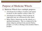 purpose of medicine wheels