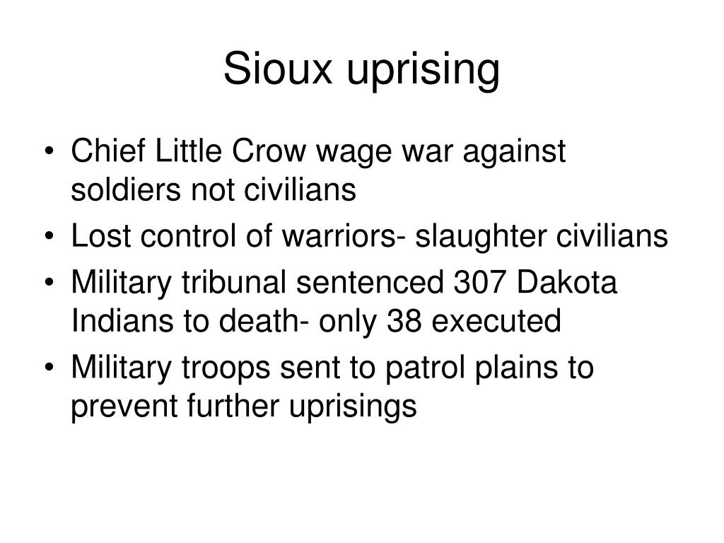 Sioux uprising