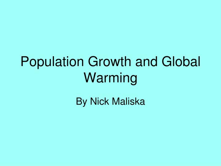 Population growth and global warming