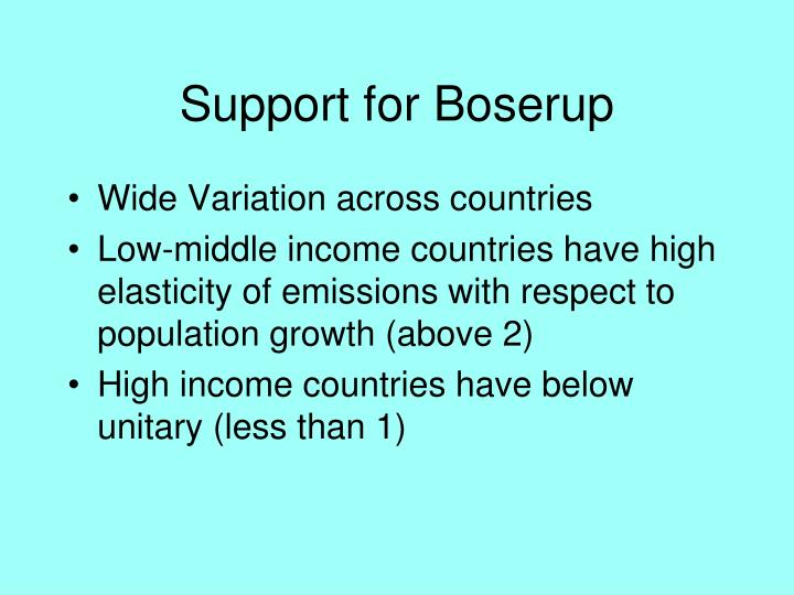 Support for Boserup