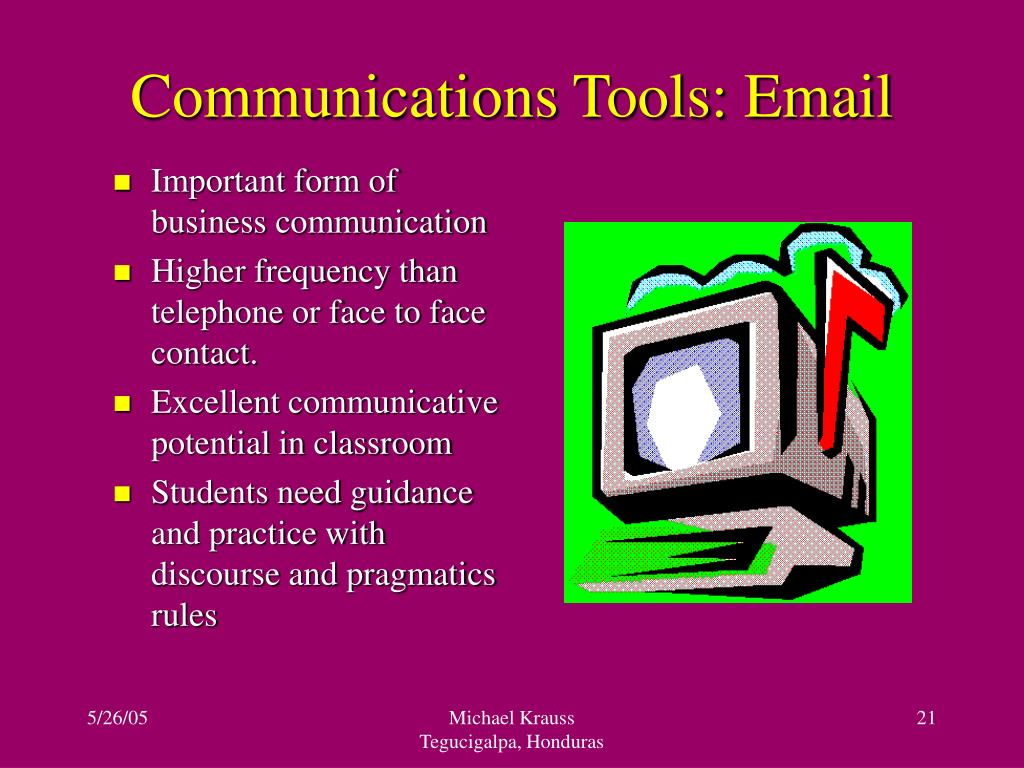 Communications Tools: Email