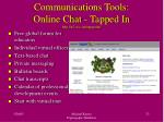 communications tools online chat tapped in http ti2 sri com tappedin