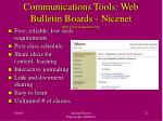 communications tools web bulletin boards nicenet http www nicenet org