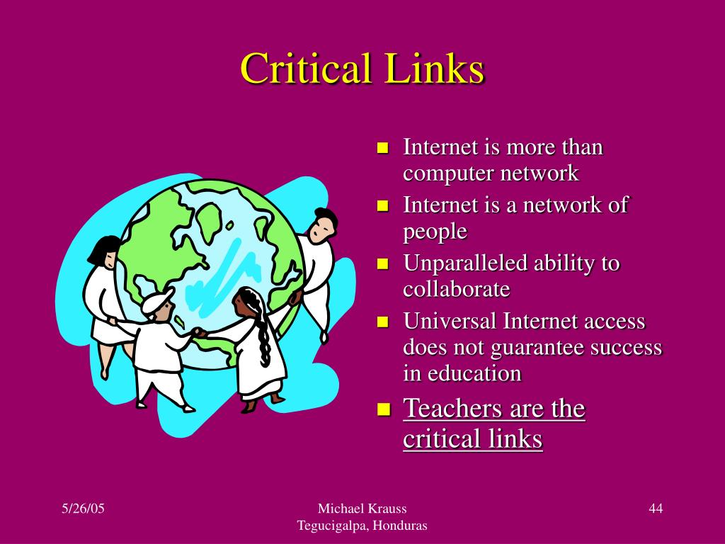 Critical Links