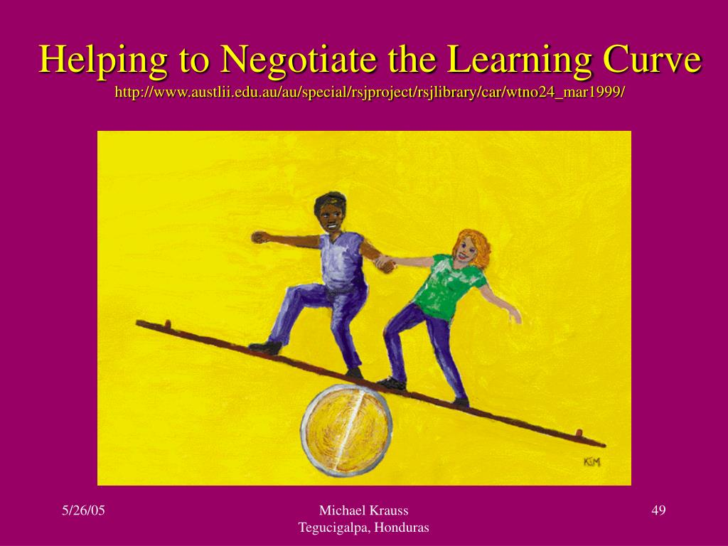 Helping to Negotiate the Learning Curve