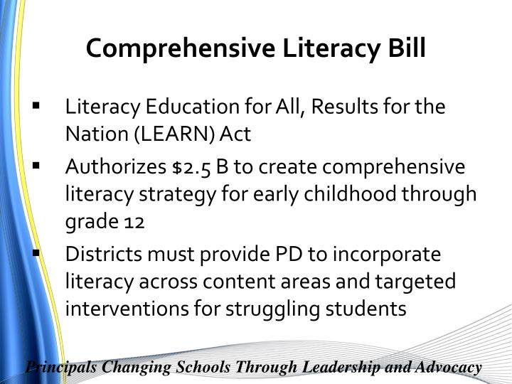 Comprehensive Literacy Bill