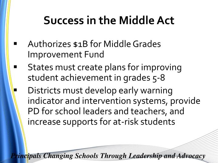 Success in the Middle Act