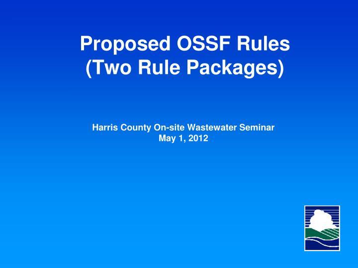 proposed ossf rules two rule packages n.