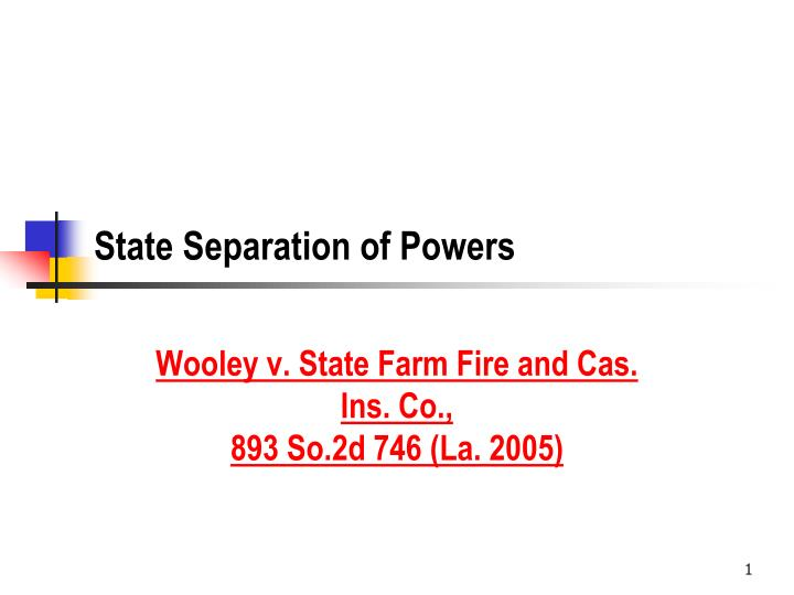 state separation of powers n.
