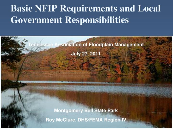 basic nfip requirements and local government responsibilities n.