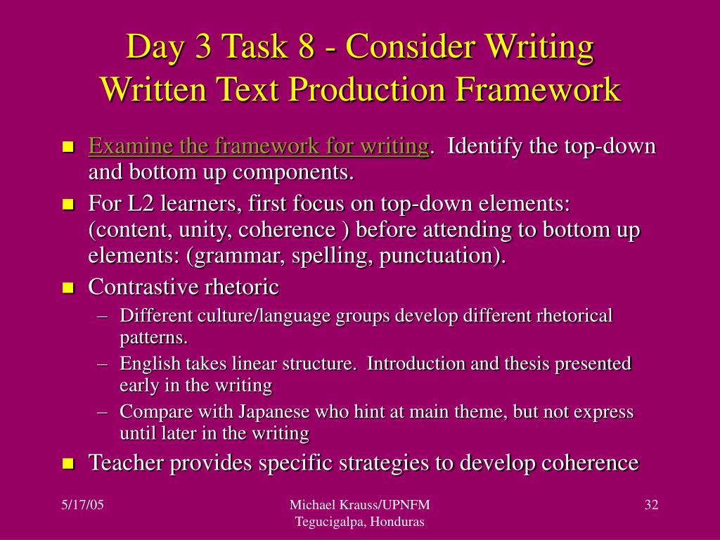 Day 3 Task 8 - Consider Writing